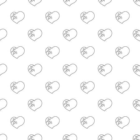 Broken heart pattern vector seamless Illustration