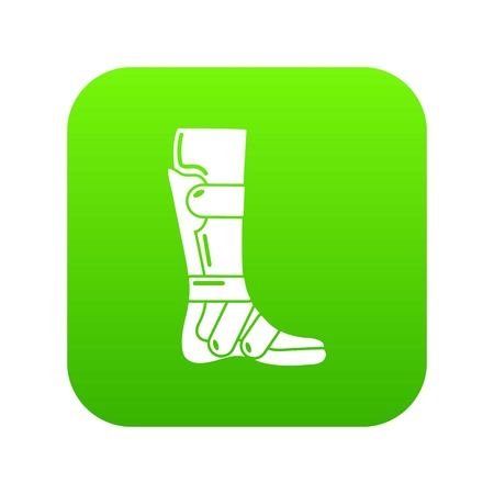 Leg in retainer icon, simple style.