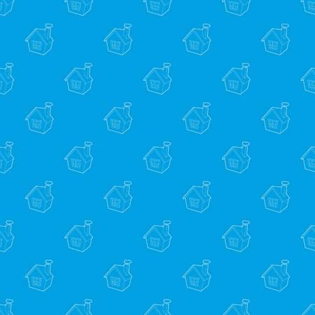 House pattern vector seamless blue