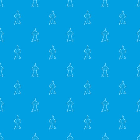 Television tower pattern vector seamless blue