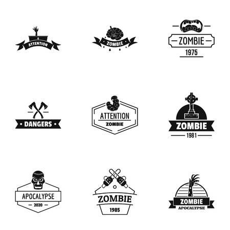 Indulge logo set, simple style Иллюстрация