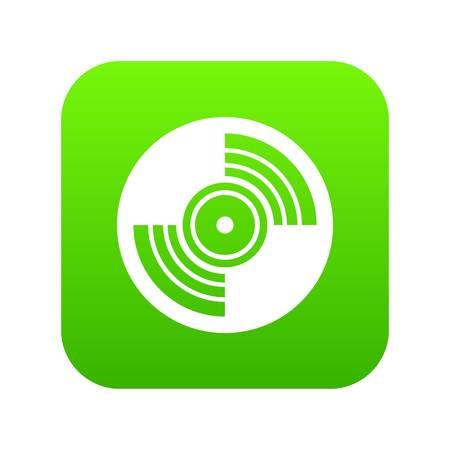 Gramophone vinyl LP record icon digital green