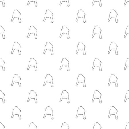 Two fingers pattern vector seamless