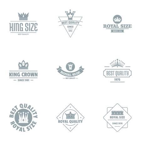 Set logo king size, stile semplice