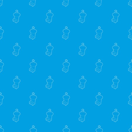 Church pattern vector seamless blue
