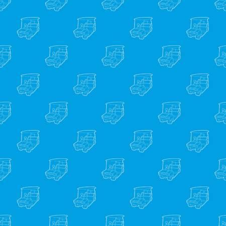 Golf car pattern vector seamless blue