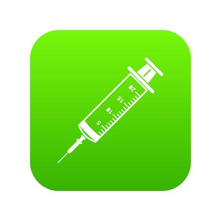 Syringe icon, simple black style