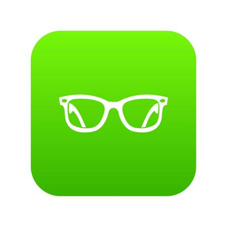 Eyeglasses icon digital green