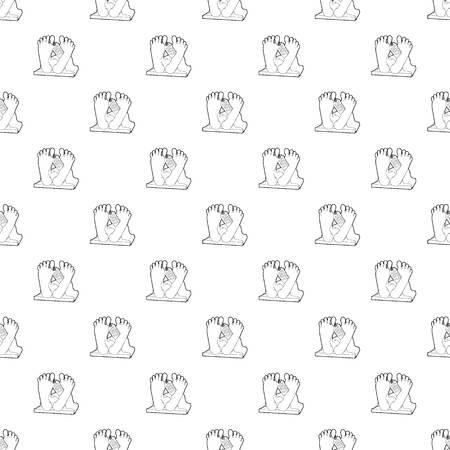 Dead body pattern vector seamless