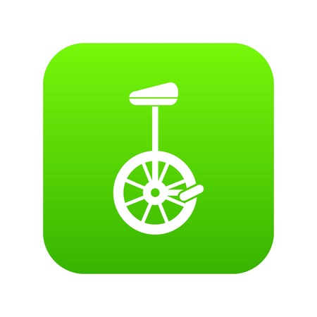 Unicycle icon digital green