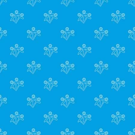 Golf emblem pattern vector seamless blue Illustration