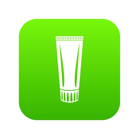 Toothpaste icon, simple black style