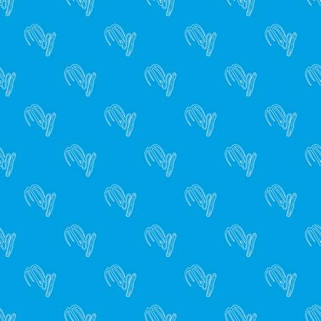 Spy equipment pattern vector seamless blue