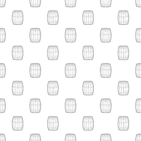 Wine barrel pattern vector seamless