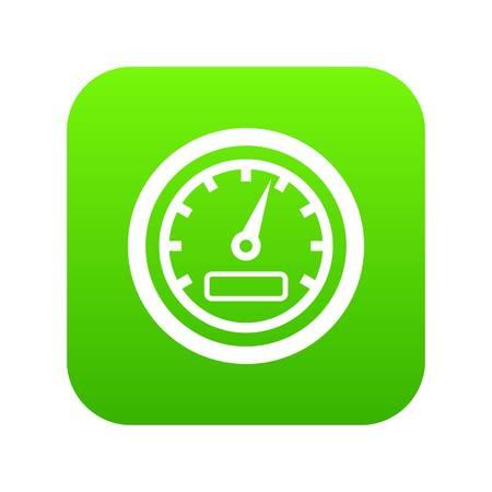 Speedometer icon digital green