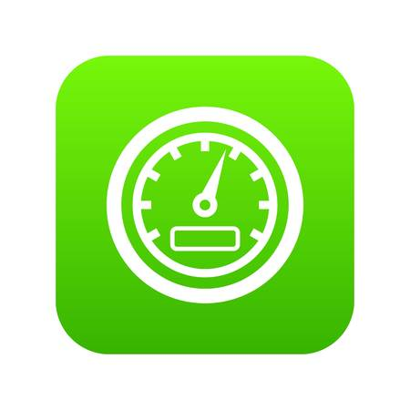 Speedometer icon digital green