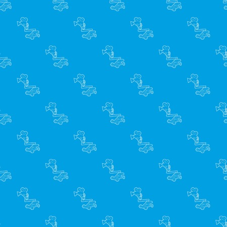 Camera up pattern vector seamless blue