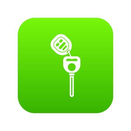 Car key with remote control icon digital green