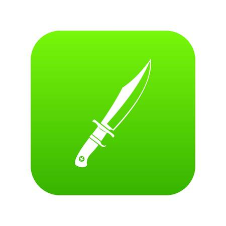 Dagger icon digital green