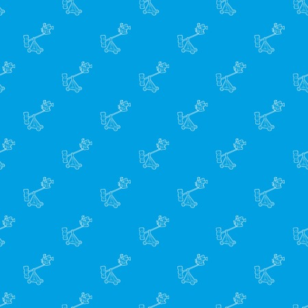 Difficult filming pattern vector seamless blue