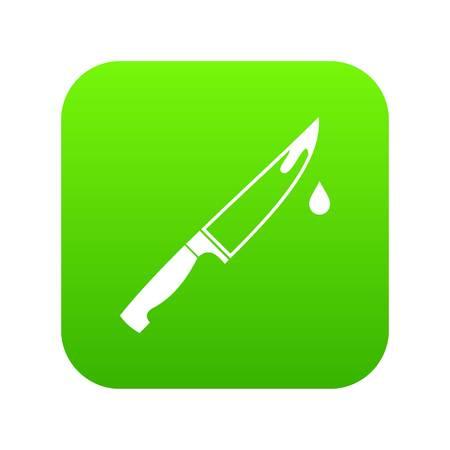 Steel knife icon digital green Иллюстрация