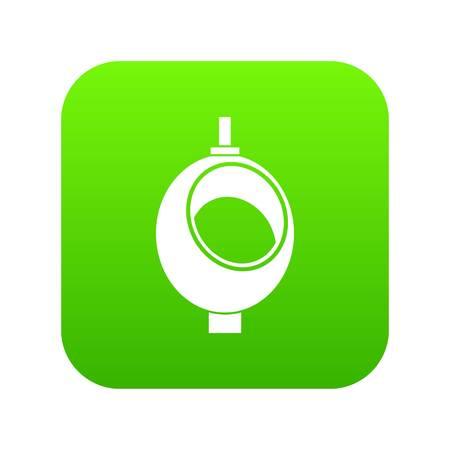 Urinal oder Nachttopf für Männer Symbol digital grün