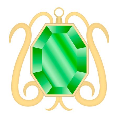 Peridot gemstone mockup, realistic style