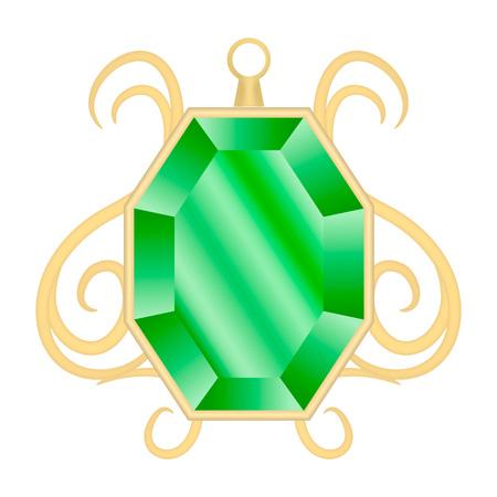 Peridot jewelry mockup, realistic style