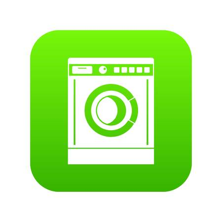 Washing machine icon digital green Ilustrace