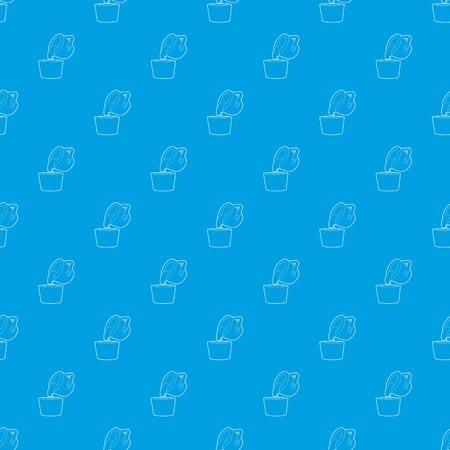 Liquid metal pattern vector seamless blue