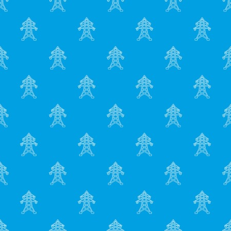 Electric pole pattern vector seamless blue