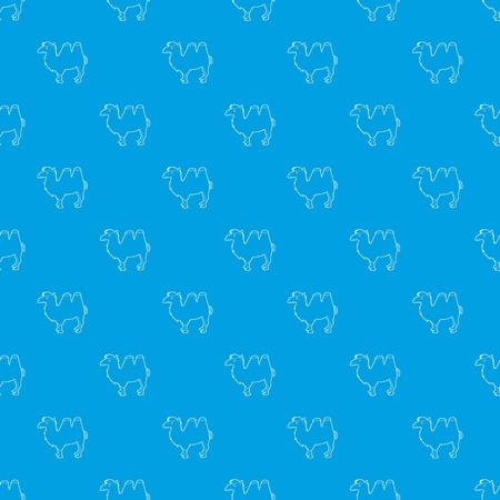 Camel pattern vector seamless blue Illustration