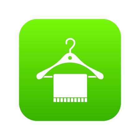 Bufanda en percha icono verde digital
