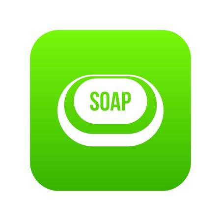 Soap icon digital green