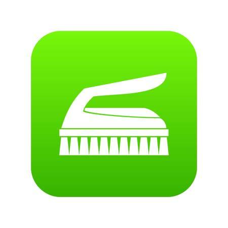 Brush for cleaning icon digital green Illusztráció