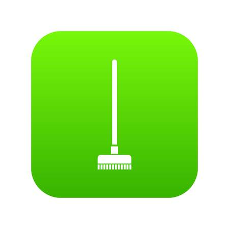 Brush for a floor icon digital green Ilustração