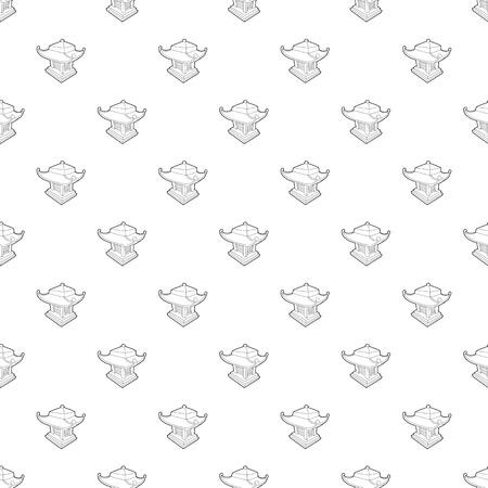 Asian pagoda pattern vector seamless