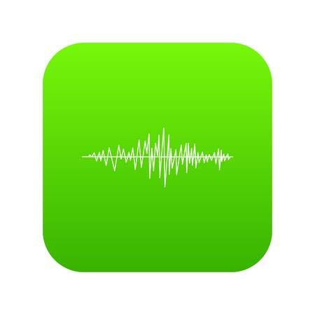 Sound wave icon digital green
