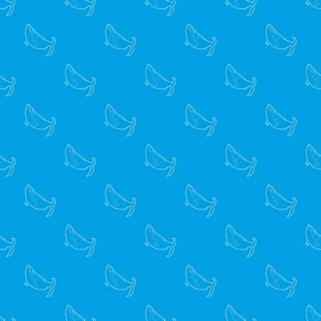 Fish pattern vector seamless blue