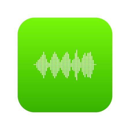 Audio digital equalizer technology icon digital green