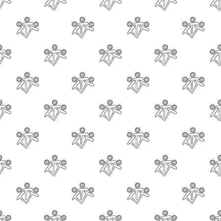 Golf emblem pattern vector seamless