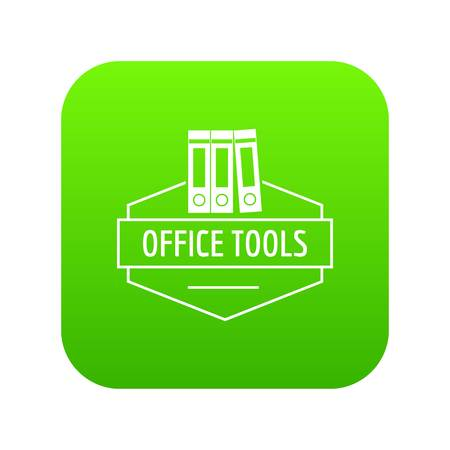 Office tool icon green vector Illustration