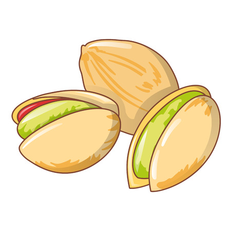 Pistachios icon, cartoon style