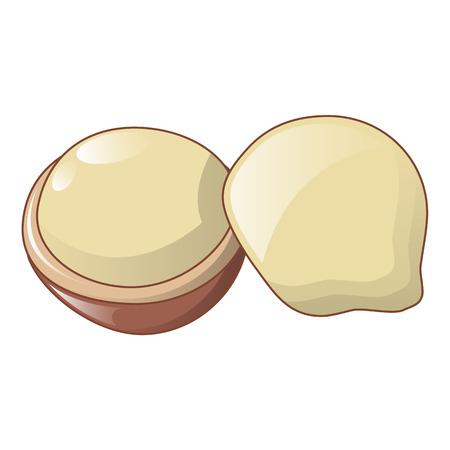 Macadamia icon, cartoon style