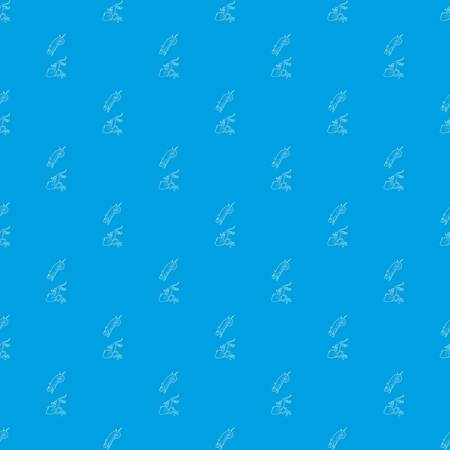 Lizard pattern vector seamless blue Illustration