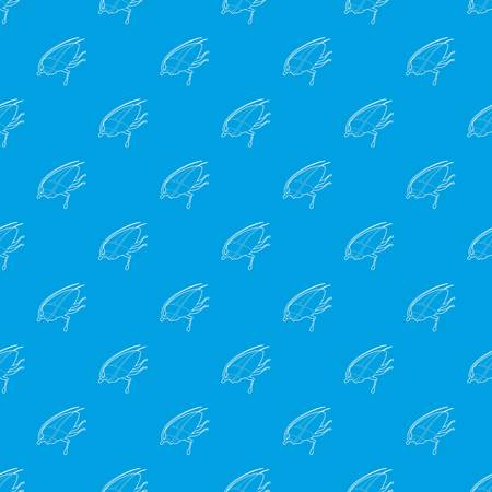 Cockroach pattern vector seamless blue repeat for any use