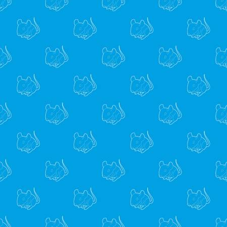 Rat pattern vector seamless blue repeat for any use