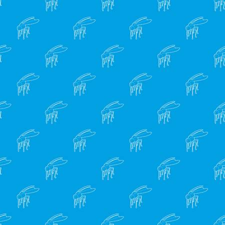 Mosquito pattern vector seamless blue repeat for any use Illustration
