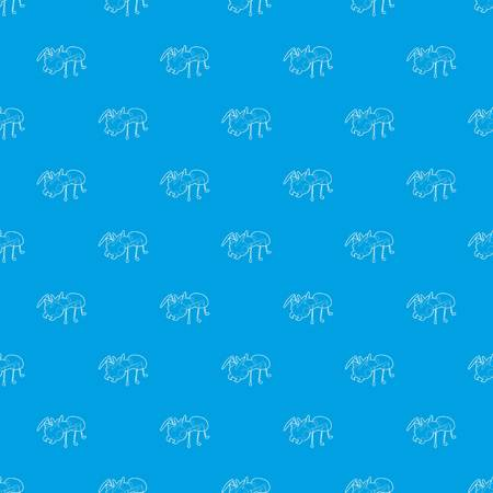 Ant pattern vector seamless blue repeat for any use