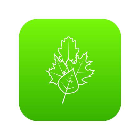 Leaves icon digital green for any design isolated on white vector illustration Illustration